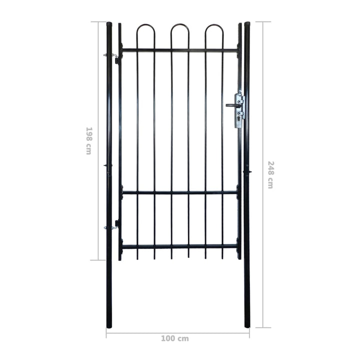 "Fence Gate with Hoop Top (single) 39.4""x78"" - AbillionZ"