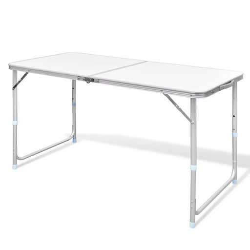 "Foldable Camping Table Height Adjustable Aluminum 47.2""x23.6"" - AbillionZ"