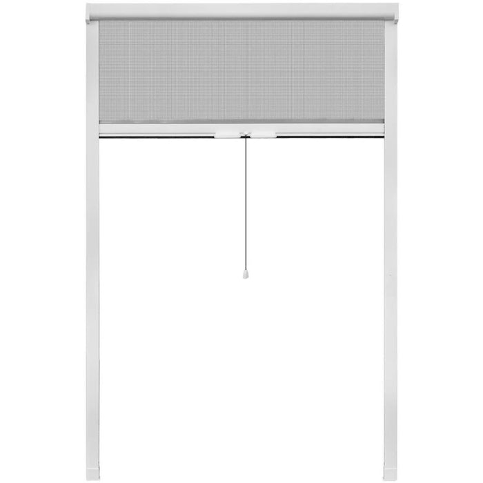 "White Roll Down Insect Screen for Windows 47.2""x66.9"" - AbillionZ"