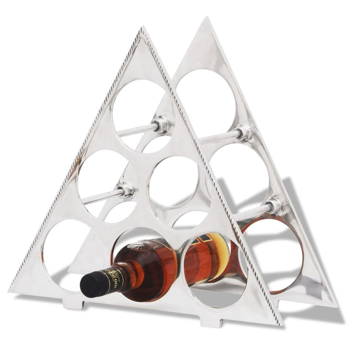 AbillionZ Collection Wine Stand for 6 Bottles Silver Aluminum - AbillionZ