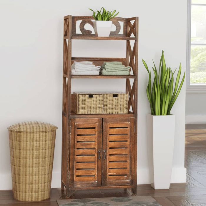 "AbillionZ Collection Bathroom Cabinet Albuquerque Wood Brown 18""x9.4""x46.3"" - AbillionZ"