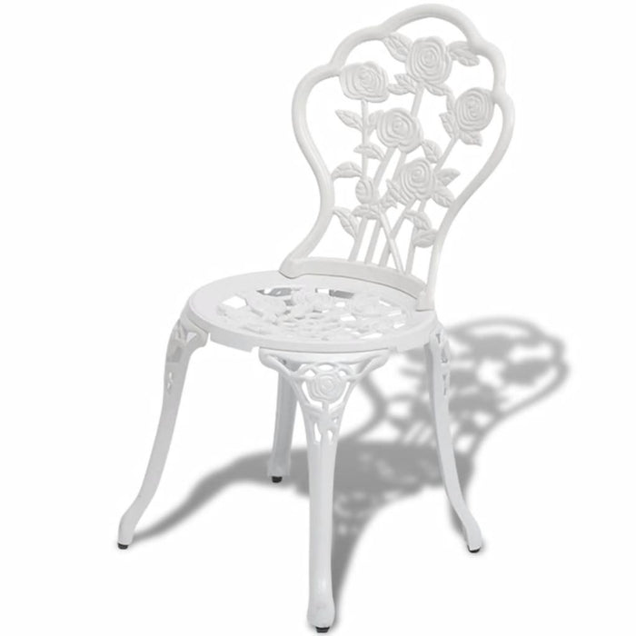 AbillionZ Collection 3 Piece Bistro Set Cast Aluminium White - AbillionZ
