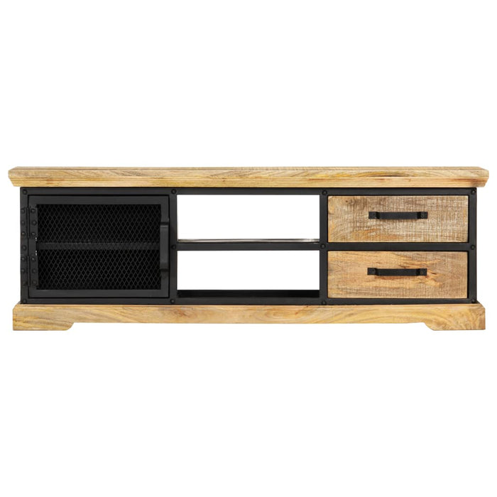 "AbillionZ Collection TV Cabinet Black 47.2""x11.8""x15.7"" Solid Mango Wood - AbillionZ"