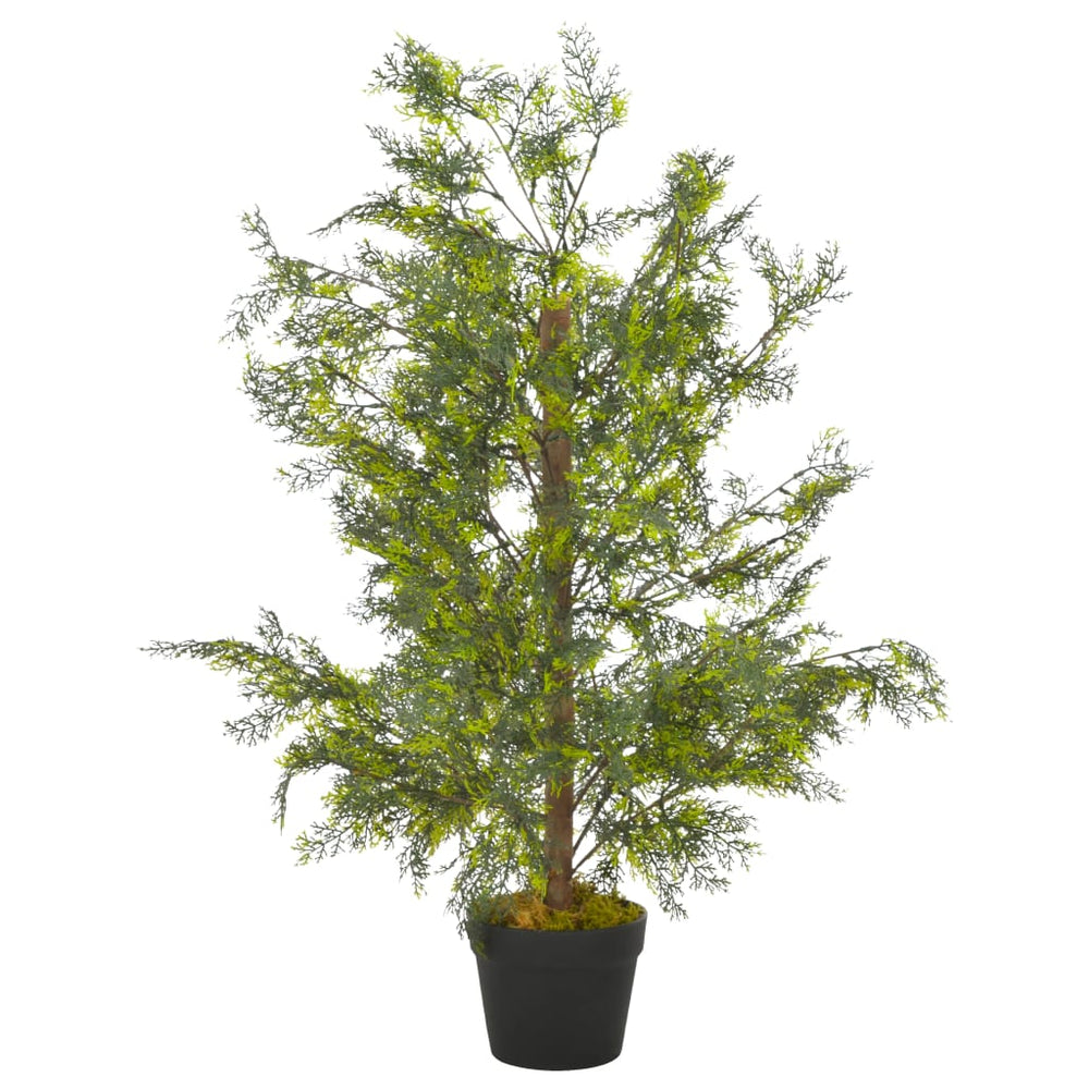 "AbillionZ Collection Artificial Plant Cypress Tree with Pot Green 35.4"" - AbillionZ"
