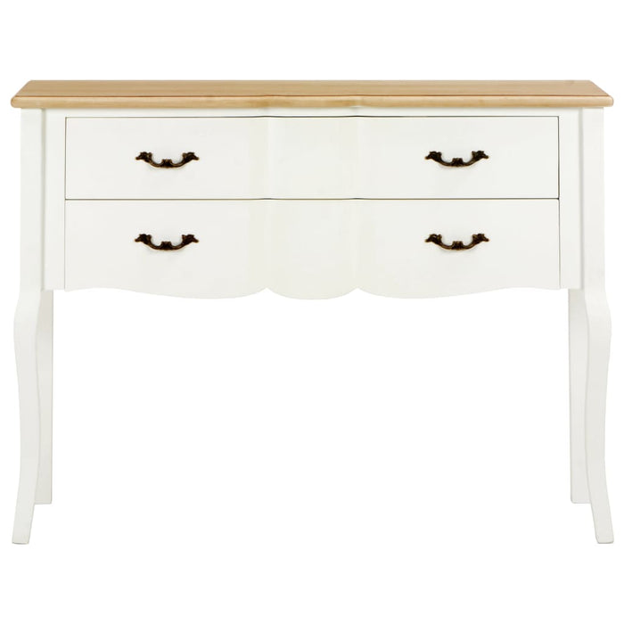 "AbillionZ Collection Sideboard White and Brown 43.3""x11.8""x33.5"" Solid Wood - AbillionZ"