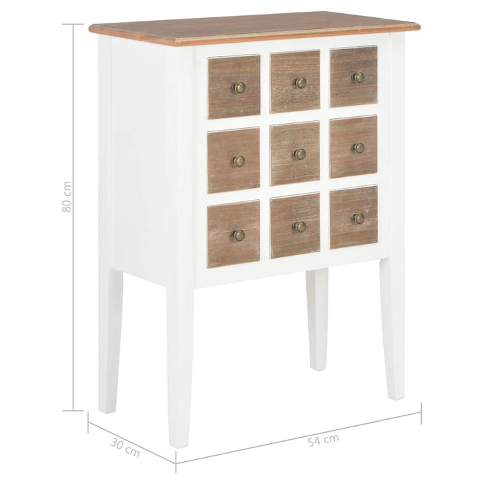"AbillionZ Collection Sideboard White 21.3""x11.8""x31.5"" Solid Wood"
