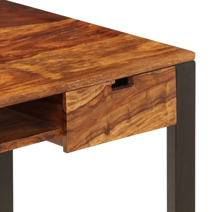 "AbillionZ Collection Desk 43.3""x21.7""x30.7"" Solid Sheesham Wood and Steel - AbillionZ"