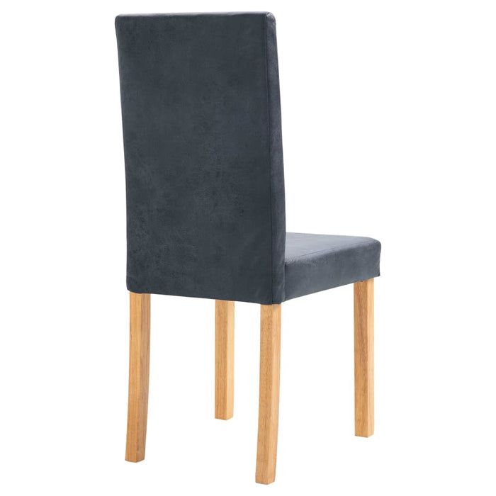 AbillionZ Collection Dining Chairs 4 pcs Gray Faux Leather - AbillionZ
