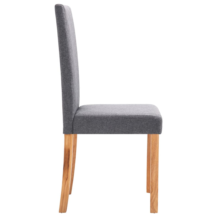 AbillionZ Collection Dining Chairs 2 pcs Light Gray Fabric - AbillionZ