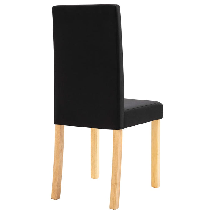 AbillionZ Collection Dining Chairs 4 pcs Black Fabric - AbillionZ