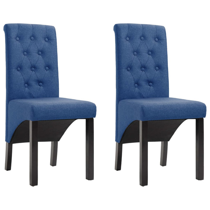 AbillionZ Collection Dining Chairs 2 pcs Blue Fabric - AbillionZ