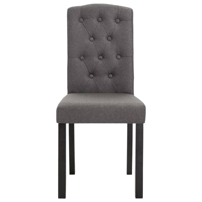 AbillionZ Collection Dining Chairs 2 pcs Dark Gray Fabric - AbillionZ