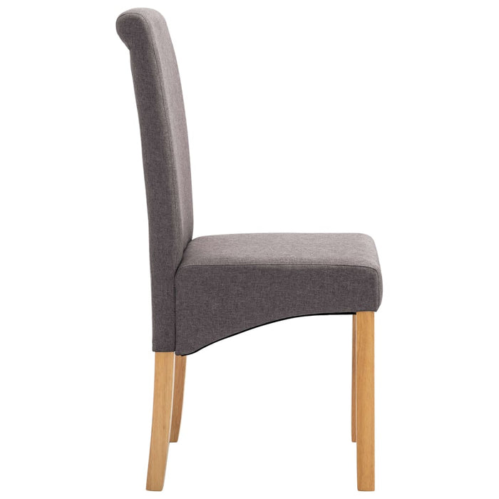 AbillionZ Collection Dining Chairs 2 pcs Taupe Fabric - AbillionZ