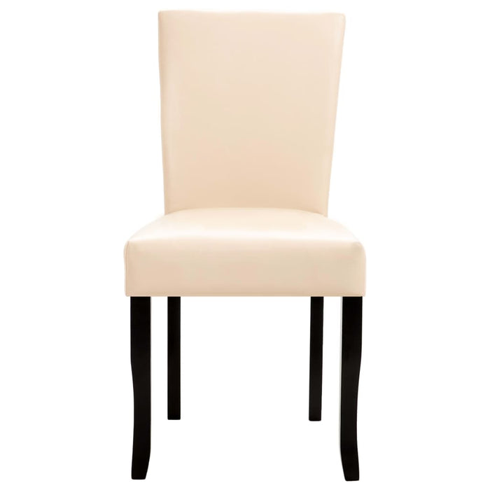 AbillionZ Collection Dining Chairs 2 pcs Cream Faux Leather - AbillionZ
