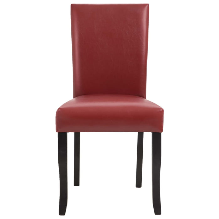 AbillionZ Collection Dining Chairs 2 pcs Wine Red Faux Leather - AbillionZ