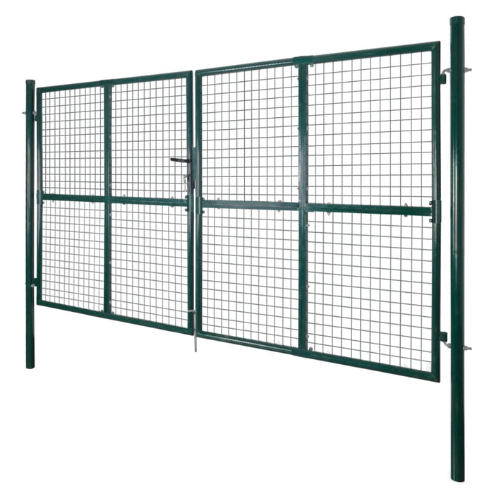 AbillionZ Collection Double Door Fence Gate Powder-Coated Steel