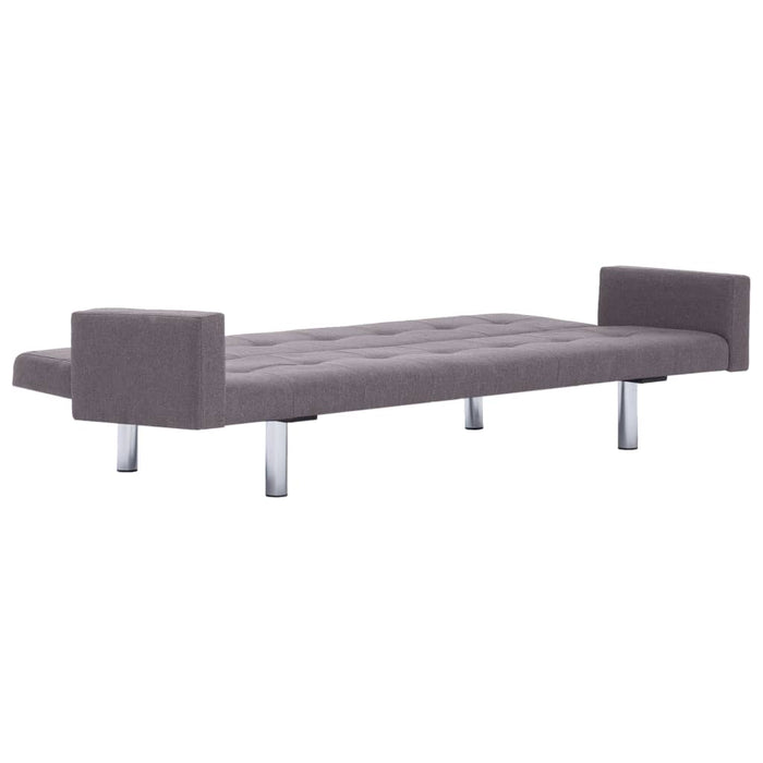 AbillionZ Collection Sofa Bed with Armrest Taupe Polyester - AbillionZ