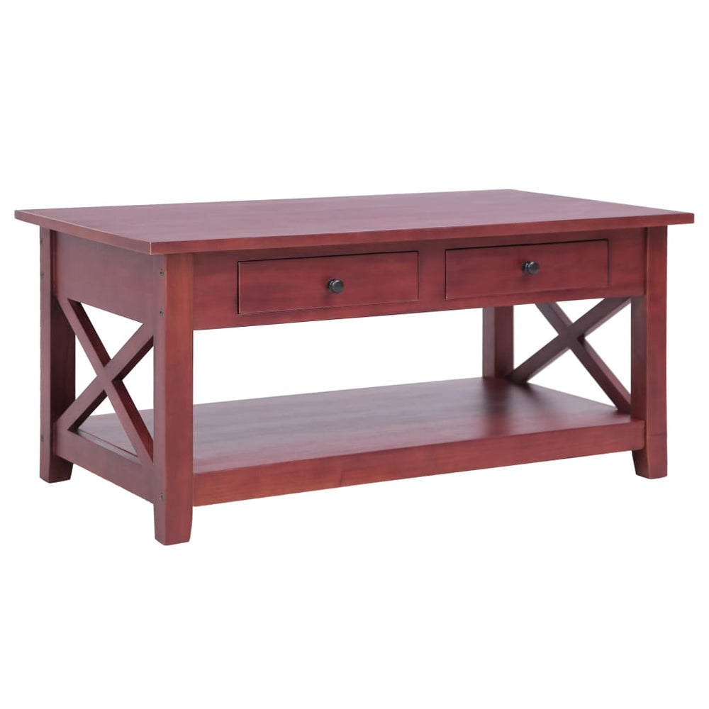 "AbillionZ Collection Coffee Table Brown 39.4""x21.7""x18.1"" Solid Mahogany Wood - AbillionZ"