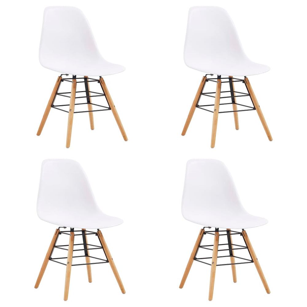AbillionZ Collection Dining Chairs 4 pcs White Plastic - AbillionZ