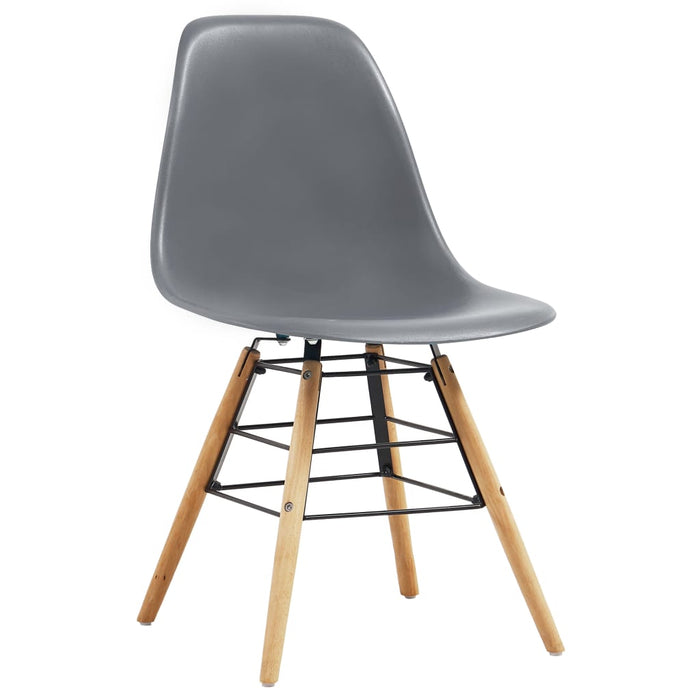 AbillionZ Collection Dining Chairs 4 pcs Gray Plastic - AbillionZ