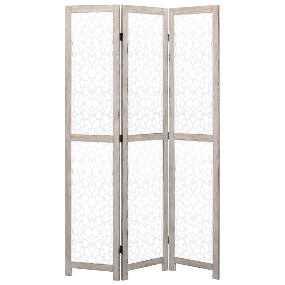 "AbillionZ Collection 3-Panel Room Divider White 41.3""x64.7"" Solid Wood - AbillionZ"