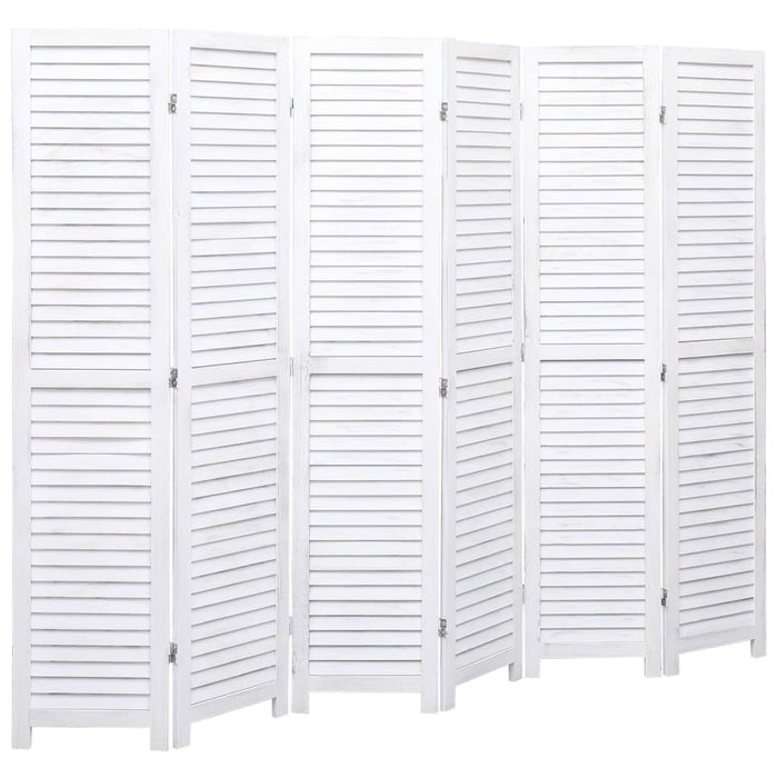 "AbillionZ Collection 6-Panel Room Divider White 82.7""x64.7"" Wood - AbillionZ"