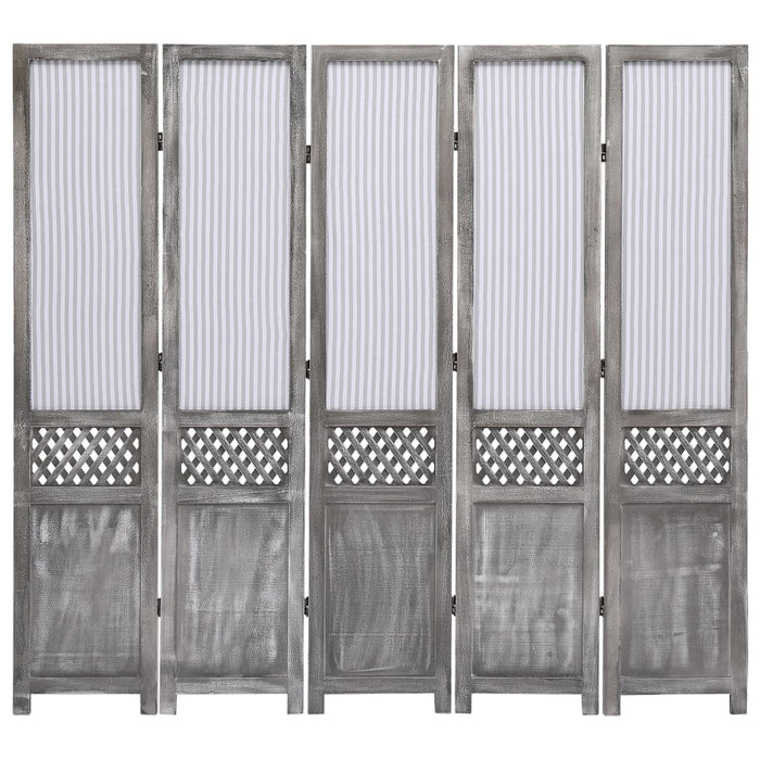 "AbillionZ Collection 5-Panel Room Divider Gray 68.9""x64.7"" Fabric - AbillionZ"