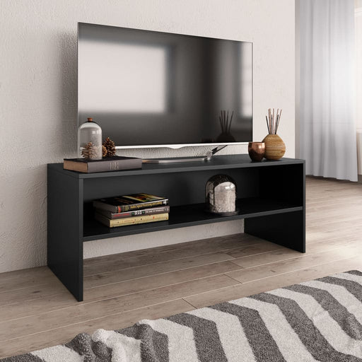 "AbillionZ Collection TV Cabinet Black 39.4""x15.7""x15.7"" Chipboard - AbillionZ"