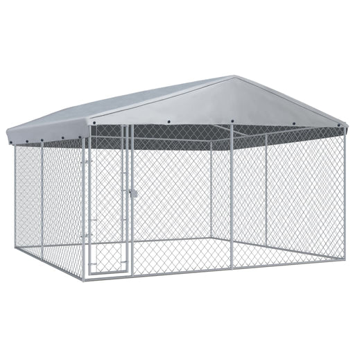 "AbillionZ Collection Outdoor Dog Kennel with Roof 150.4""x150.4""x88.6"" - AbillionZ"
