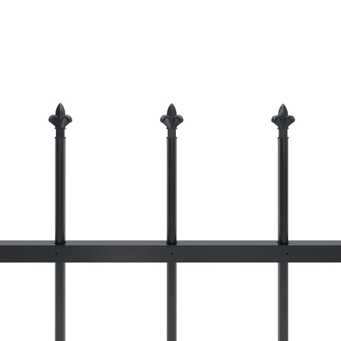 "AbillionZ Collection Garden Fence with Spear Top Steel 401.6""x59.1"" Black"