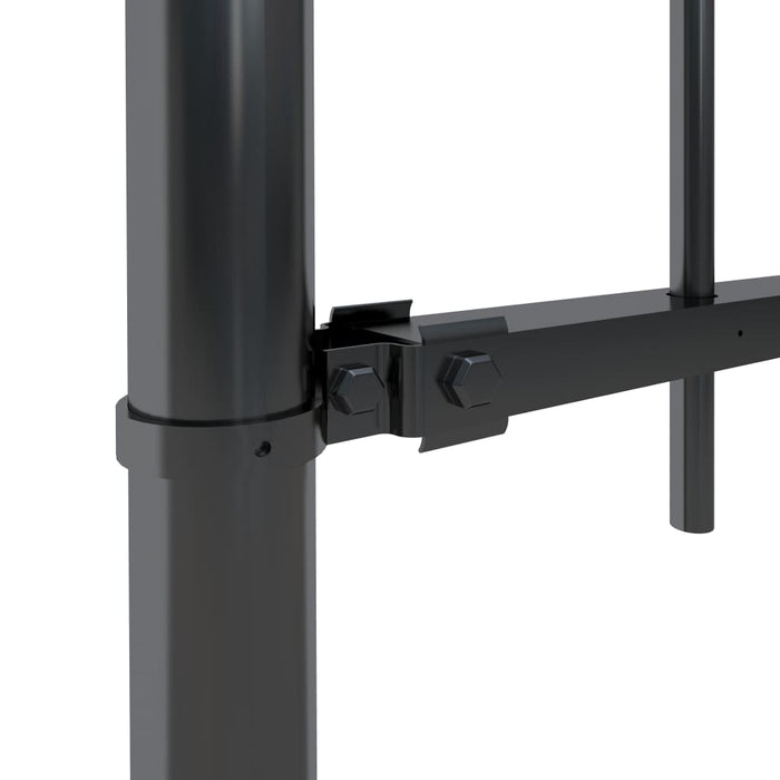 AbillionZ Collection Garden Fence with Hoop Top Steel 11.2ft Black - AbillionZ