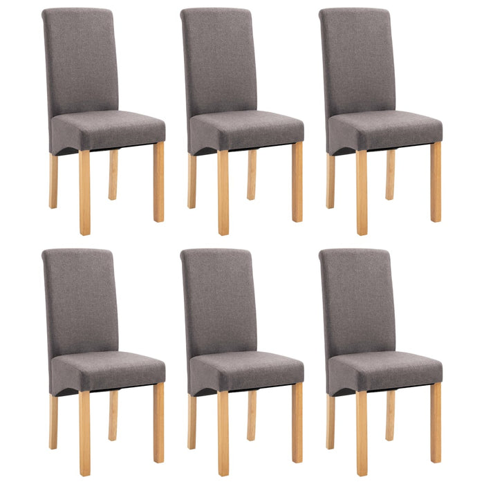AbillionZ Collection Dining Chairs 6 pcs Taupe Fabric - AbillionZ
