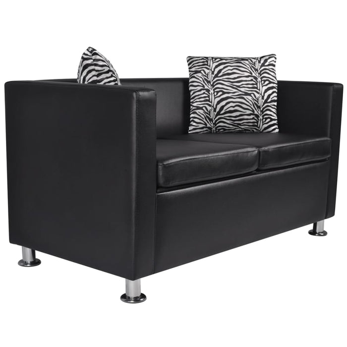 AbillionZ Collection Sofa Set Armchair 2-Seater 3-Seater Black Faux Leather - AbillionZ