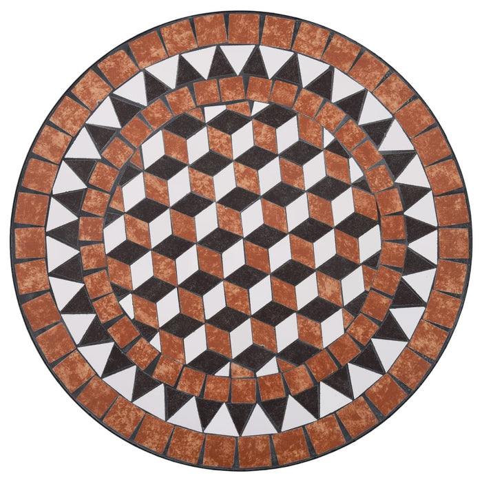"AbillionZ Collection Mosaic Bistro Table Brown 23.6"" Ceramic - AbillionZ"