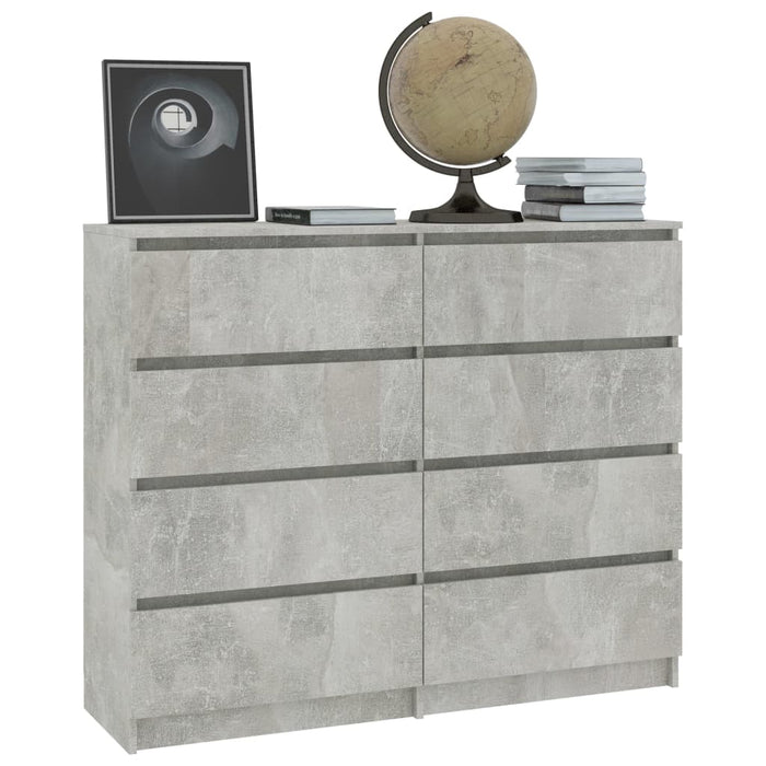 "AbillionZ Collection Drawer Sideboard Concrete Gray 47.2""x13.8""x39"" Chipboard - AbillionZ"