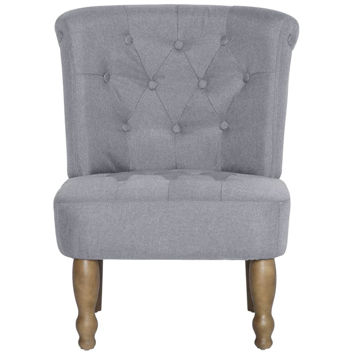 AbillionZ Collection French Chair Light Gray Fabric - AbillionZ