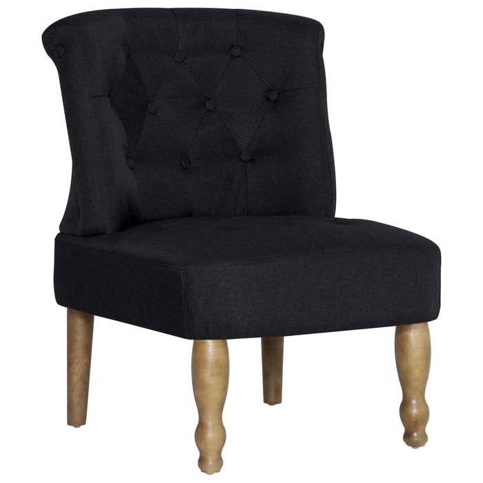 AbillionZ Collection French Chairs 2 pcs Black Fabric - AbillionZ