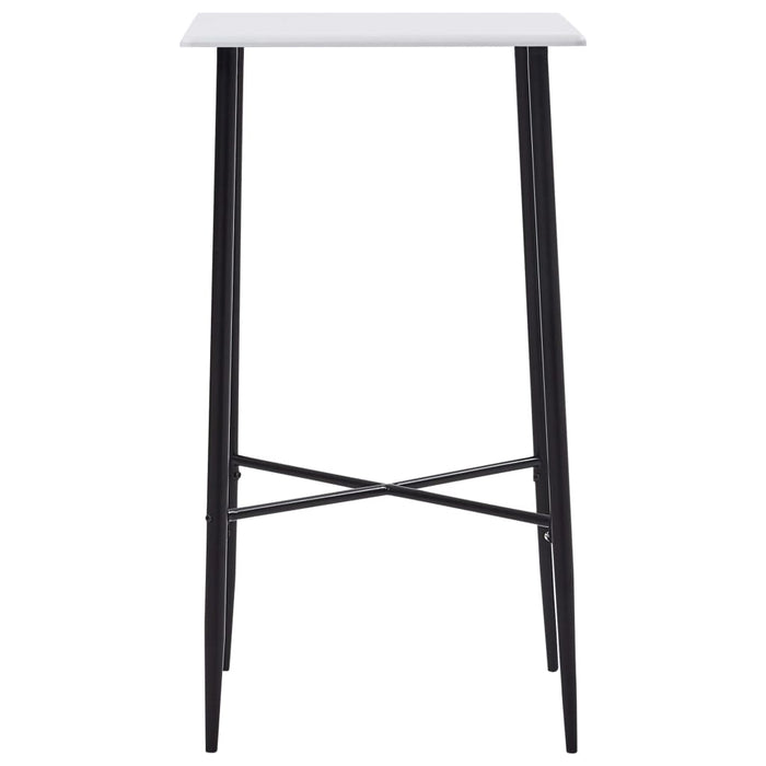 "AbillionZ Collection Bar Table White 23.6""x23.6""x43.7"" MDF - AbillionZ"