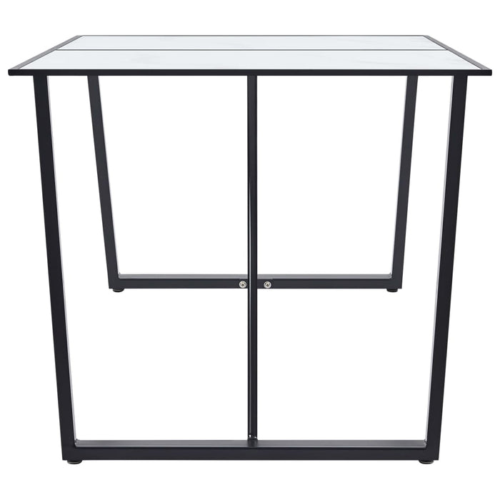 "AbillionZ Collection Dining Table White 63""x31.5""x29.5"" Tempered Glass - AbillionZ"