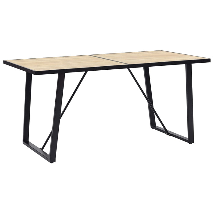 "AbillionZ Collection Dining Table Oak 55.1""x27.6""x29.5"" MDF - AbillionZ"
