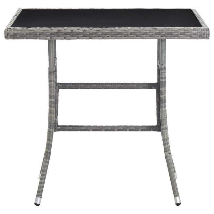 "AbillionZ Collection Garden Table Anthracite 31.5""x31.5""x29.1"" Poly Rattan - AbillionZ"