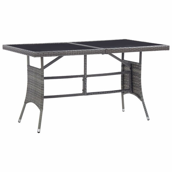 "AbillionZ Collection Garden Table Gray 55.1""x31.5""x29.1"" Poly Rattan - AbillionZ"