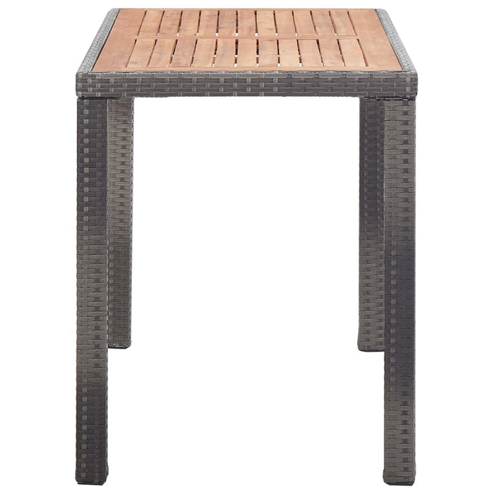 "AbillionZ Collection Garden Table Anthracite and Brown 48.4""x23.6""x29.1"" Solid Acacia Wood - AbillionZ"