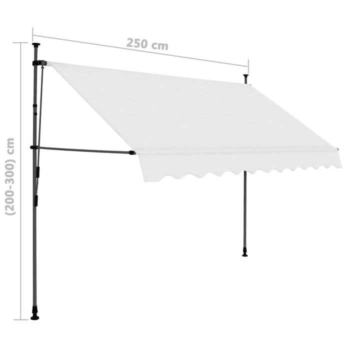 "AbillionZ Collection Manual Retractable Awning with LED 98.4"" Cream - AbillionZ"