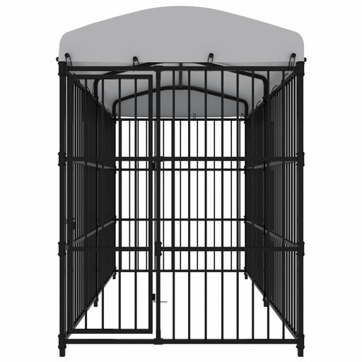 "AbillionZ Collection Outdoor Dog Kennel with Roof 118.1""x59.1""x82.7"" - AbillionZ"