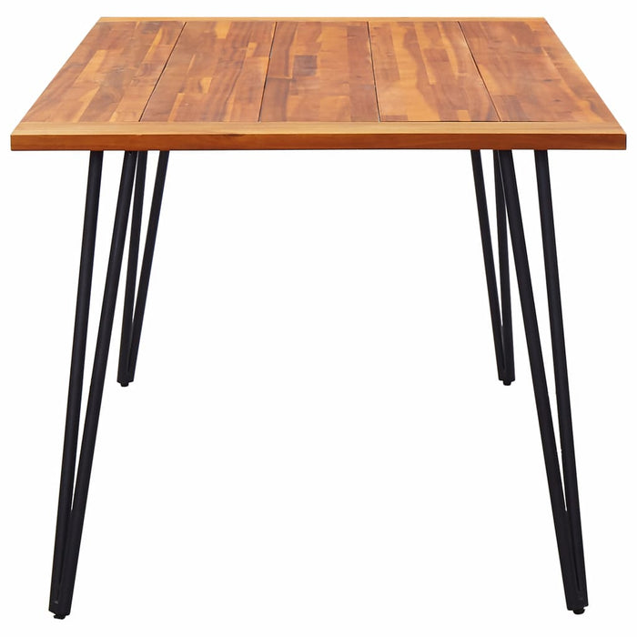 "AbillionZ Collection Garden Table with Hairpin Legs 70.9""x35.4""x29.5"" Solid Acacia Wood - AbillionZ"