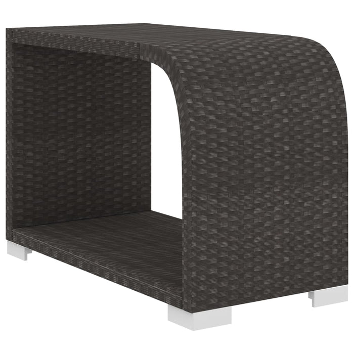 AbillionZ Collection 8 Piece Garden Lounge Set with Cushions Poly Rattan Black - AbillionZ