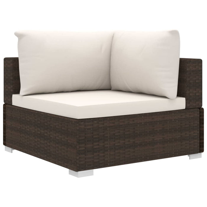 AbillionZ Collection 11 Piece Garden Lounge Set with Cushions Poly Rattan Brown - AbillionZ
