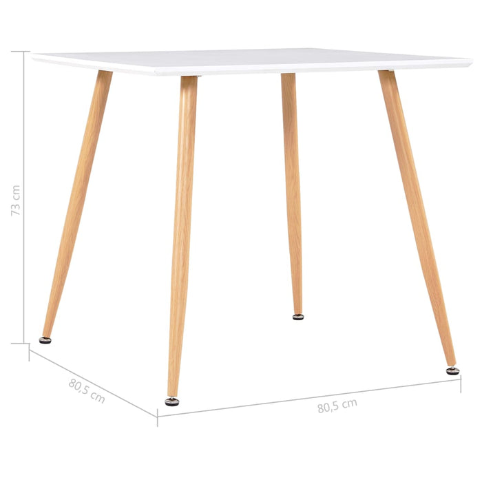 "AbillionZ Collection Dining Table White and Oak 31.7""x31.7""x28.7"" MDF - AbillionZ"