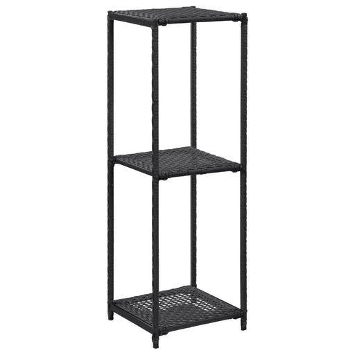 "AbillionZ Collection Storage Shelf Black 11.8""x11.8""x35.4"" Poly Rattan - AbillionZ"